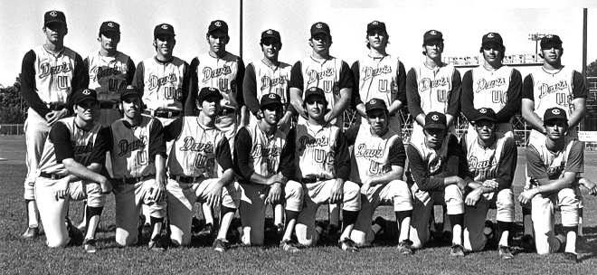 UC Davis Baseball Hall of Fame 1972 Team