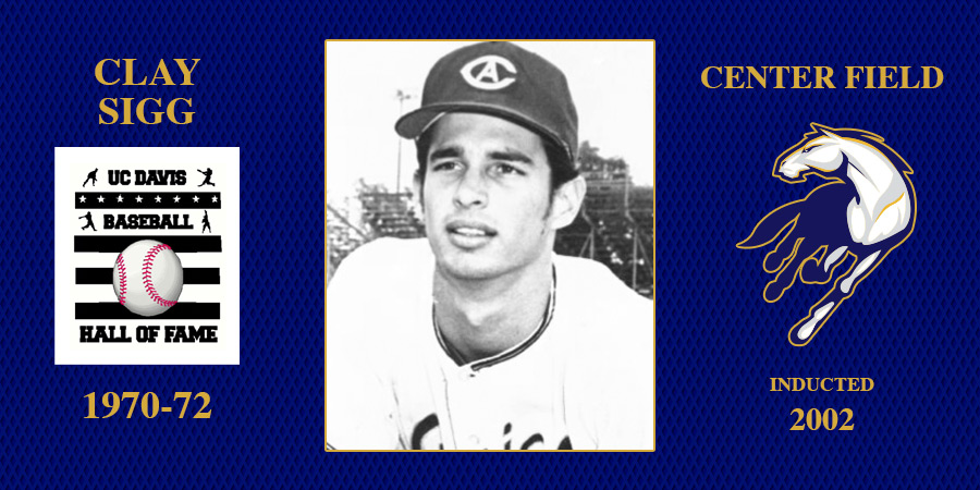 uc davis baseball hall of fame inductee Clay Sigg