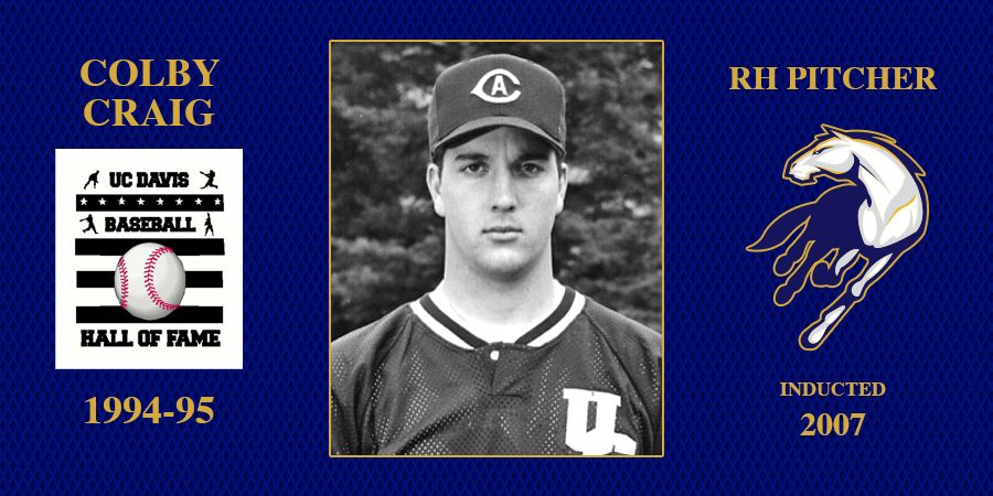 uc davis baseball hall of fame inductee Colby Craig