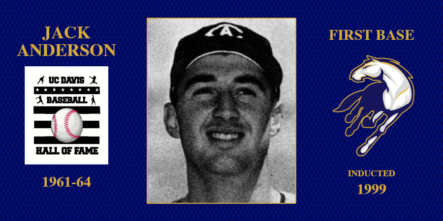 uc davis baseball hall of fame inductee jack anderson