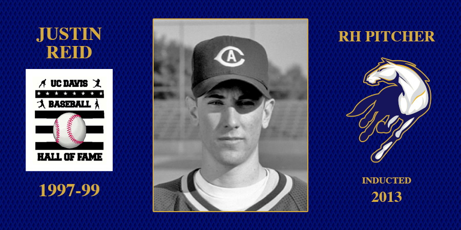 uc davis baseball hall of fame inductee Justin Reid
