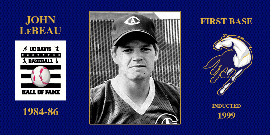 uc davis baseball hall of fame inductee John LeBeau