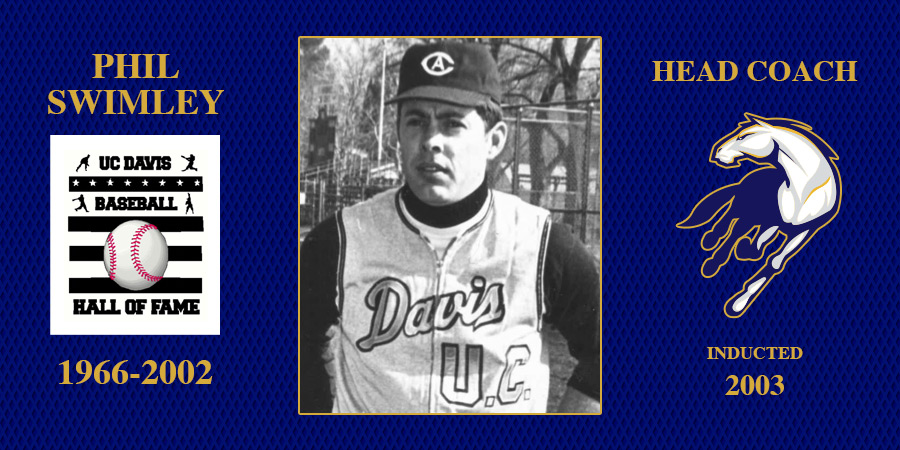 uc davis baseball hall of fame inductee Phil Swimley