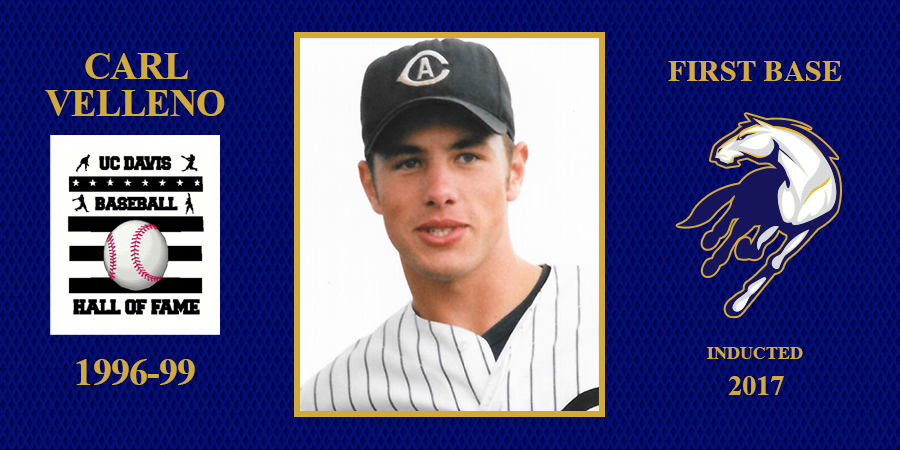 uc davis baseball hall of fame inductee Carl Velleno