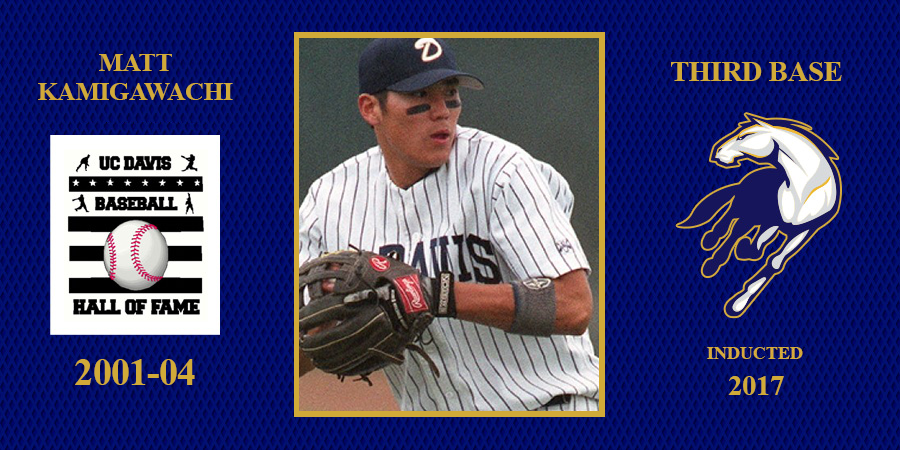 uc davis baseball hall of fame inductee Matt Kamigawachi