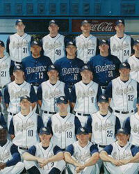 UC Davis Baseball Hall of Fame 2003 Team
