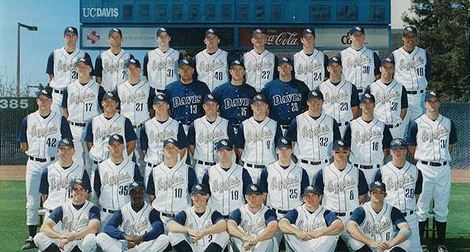 UC Davis Baseball Hall of Fame 2003 Team